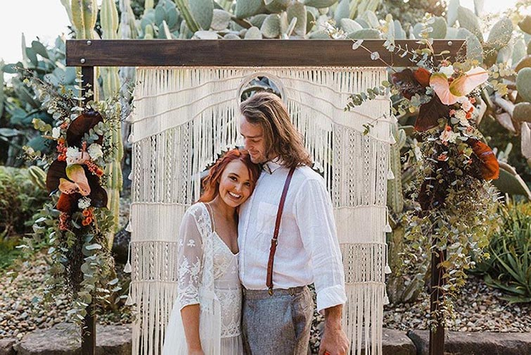 عروسی به سبک عاشقانه بوهمین