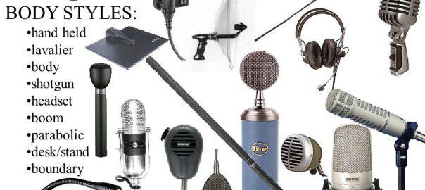 انواع میکروفون ها